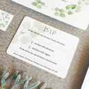 Printable Personalised Eucalyptus Wedding Invitation