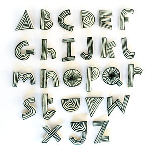 Alphabet Brooch - children's jewellery