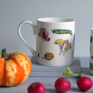 Vegetables Bone China Mug