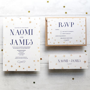 'Starry Night' Wedding Invitation Set - wedding stationery