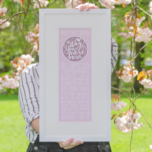 Personalised 'The Day You Were Born' Print