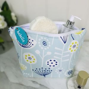 Seedhead Wash Bag With Personalised Tag
