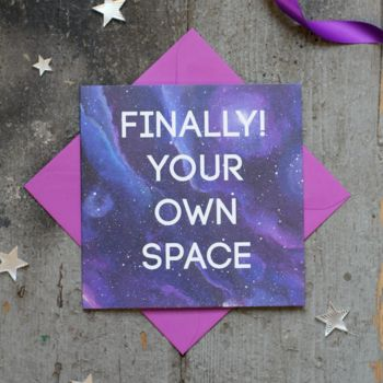 New Home Card Finally Your Own Space