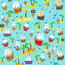Pirate Wrapping Paper Two Sheets