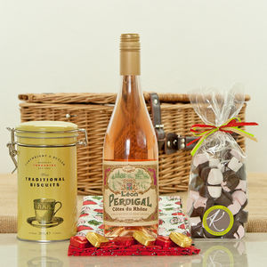 Cotes Du Rhone Rose And Sweet Treat Hamper