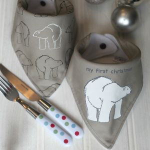Gift Set Of Baby Dribble Bibs, First Christmas - children's christmas clothing