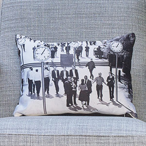 'Slaves To Time' Luxury Handmade Photo Cushion