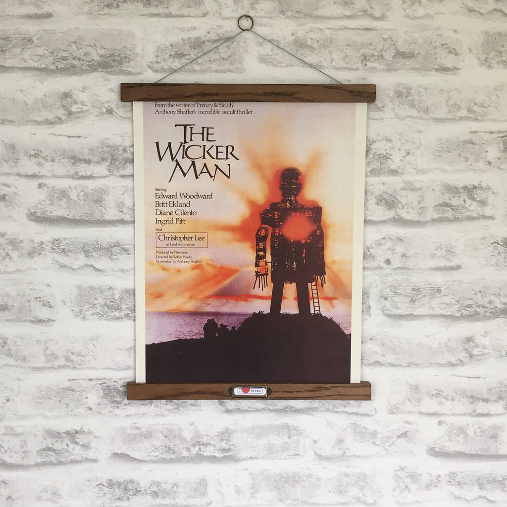 Retro The Wicker Man Film Print