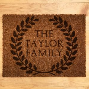 Personalised Roman Style Wreath Doormat - rugs & doormats