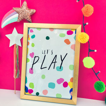 Children's Modern Art Print 'Let's play'