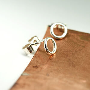'Beautifully Simple' Silver Circle Stud Earrings