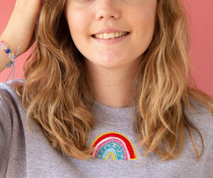 Embroidered Rainbow Sweater