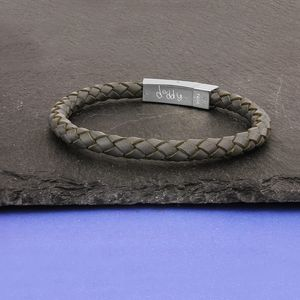 Personalised Daddy Leather Bracelet - bracelets