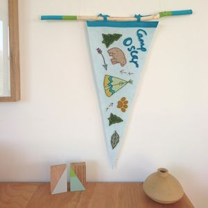 Personalised Camping Party Pennant Flag