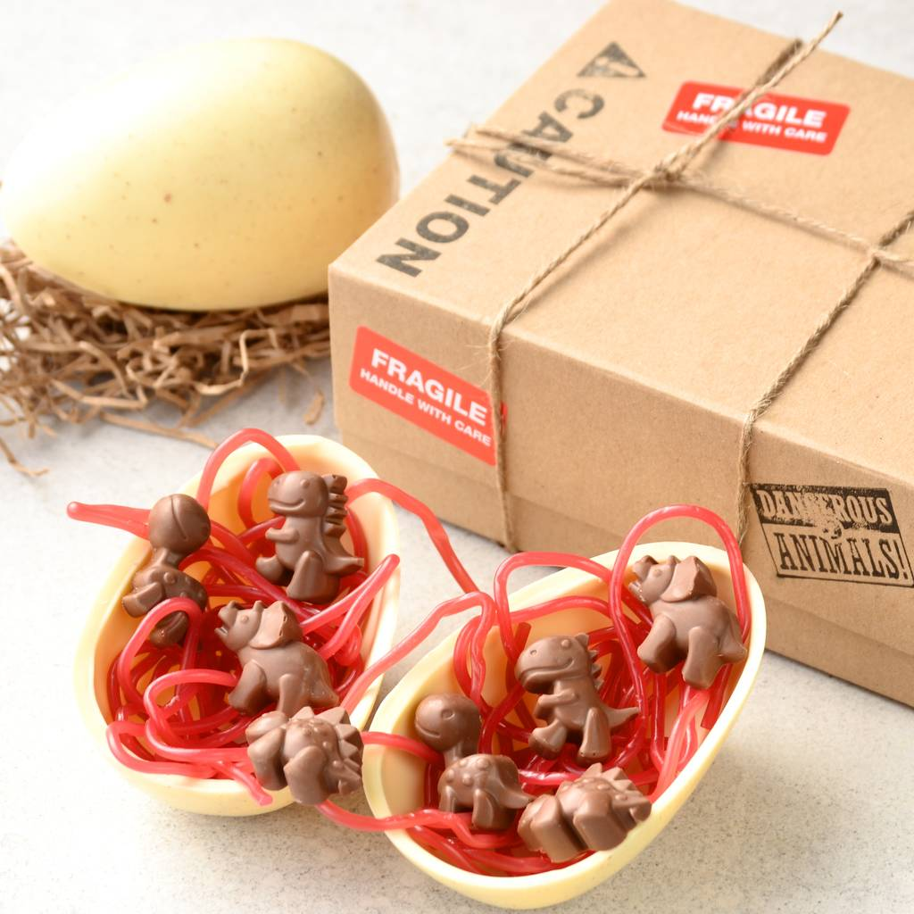 Dinosaur easter egg by bagstock bumble notonthehighstreet dinosaur easter egg negle Images