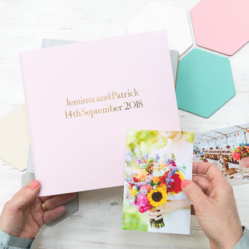 Soft Pastel Leather Guest Book Or Album