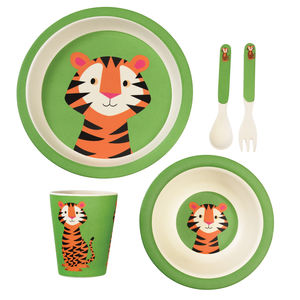 Children's Tiger Bamboo Tableware