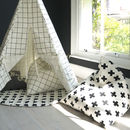 Monochrome Print Pyramid Bean Bag