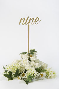 Wedding Table Numbers Pack Of Six