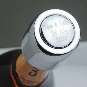 Personalised Prosecco Bottle Stopper - prosecco gifts