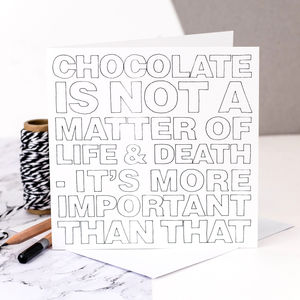 Birthday Card For Her 'Chocolate'