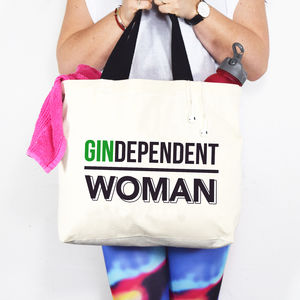 'Gindependent Woman' Gin Tote Bag