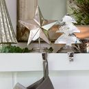 Star Or Tree Silver Stocking Holders