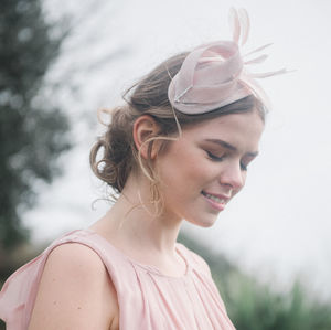 Nude Pink Art Deco Cocktail Hat 'Burgh'