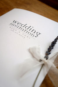 Text Design Wedding Stationery Range - room decorations