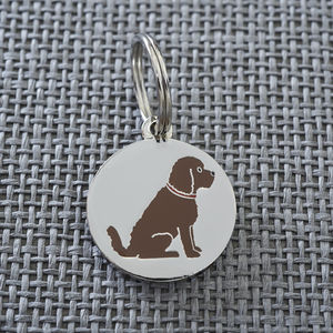 Cockapoo Dog ID Name Tag - winter sale