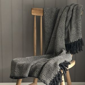 Grey Chevron Throw - throws, blankets & fabric