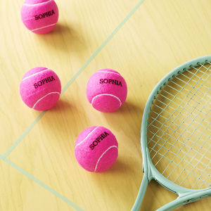 Personalised Tennis Balls - gifts for teenagers