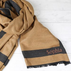 Personalised Reversible Wrap Scarf - for sisters