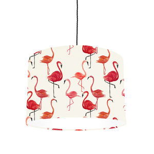 Flamingo Lampshade Made For Ceiling Or Lamp - living room