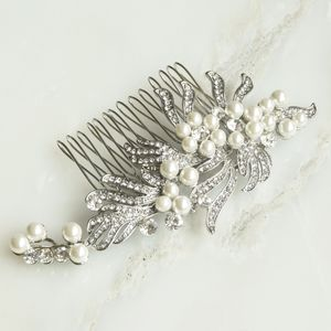 Greta Gatsby Inspired Bridal Hair Comb Silver/Gold - wedding jewellery