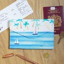 By The Sea Palm Travel Wallet
