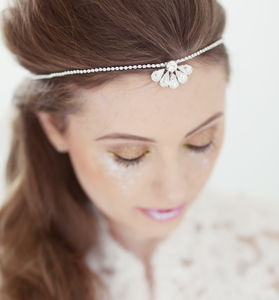 Clemise Crystal Bridal Browband - wedding fashion