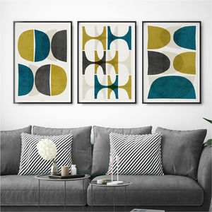 Set Of Three Prints Abstract Art Print - modern & abstract