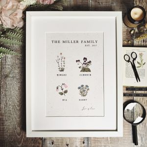 Vintage Botanical Family Print - gifts for families