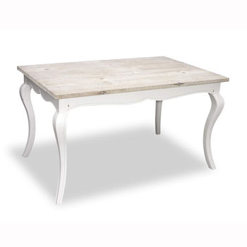 Bayonne Cabriole Legged Dining Table - Antique White