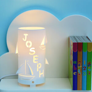 Personalised Boat Night Light Ideal New Baby Gift