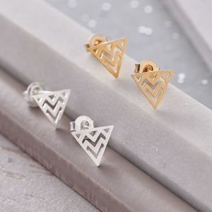 Open Triangle Earrings - earrings