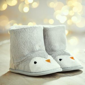 Personalised Penguin Booties - best gifts for boys