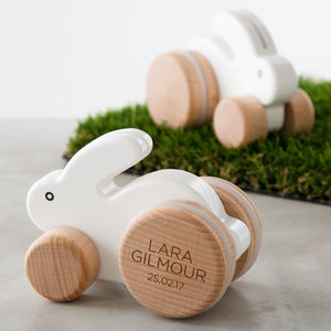 Easter gifts for babies and children notonthehighstreet personalised wooden rabbit toy easter gifts for children negle Images
