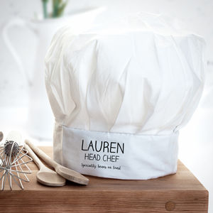 Personalised Head Chef Hat - kitchen