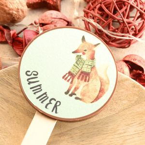 Personalised Fox Christmas Chocolate Lolly Gift