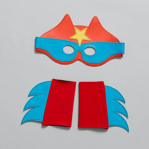 Superhero Mask And Cuff Set