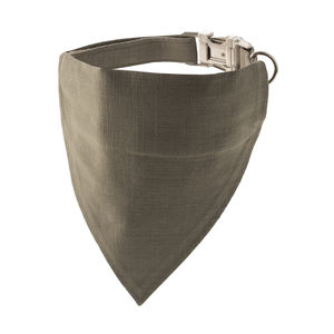 Olive Green Bandana Dog Collar - dogs