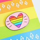 Rainbow Heart Gay Pride Pin