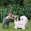 Personalised White Or Pink Toy Pram